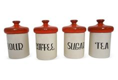 Kitchen Canisters, S/4
