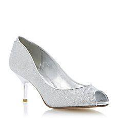 DECRA - Glitter Peep Toe Court Shoe
