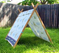 DIY pup tent & instructions for how to build A-frame tent | Faithu0027s 8th Birthday ...