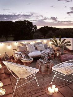 Outdoor Rooms, Outdoor Furniture Sets, Outdoor Decor, Chill Lounge, Terrazas Chill Out, Lounge Decor, House Made, Garden Inspiration, Modern Farmhouse