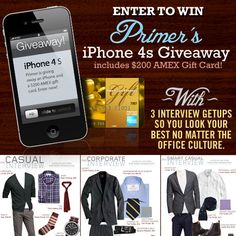 3 Interview Getups PLUS Enter to Win an iPhone 4s & $200 American Express Gift Card! - Primer