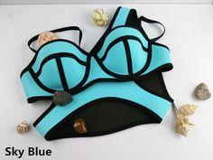 Swimwear Woman Neoprene Material Bikinis Women New Sexy Swimsuit Bath Suit Bikini set Bathsuit Biquini TA001 Cikini