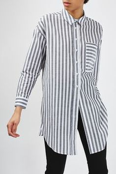 Stripe Tunic Shirt By Boutique - Tops - Clothing - Topshop Europe Over 60 Fashion, Over 50 Womens Fashion, Fast Fashion, 50 Fashion, Fashion Quiz, Holiday Fashion, Fashion 2018, Cheap Fashion, Fashion Online