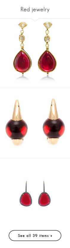 Featuring Jewelry Earrings Stud Fl Jewellery Renaissance Accessories Red And Chanel