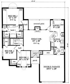 House Plan chp-19870 at COOLhouseplans.com