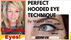 Makeup Tips Over 40, Eye Tricks, Wayne Goss, Loose Skin, Eye Tutorial, Hooded Eyes, Beauty Make Up, Beauty Hacks, Beauty Tips
