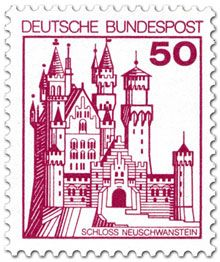 Neuschwanstein Castle – West German Stamp, the year I made my visit with my Grandma & Tante German Stamps, Neuschwanstein Castle, Interesting Buildings, Berlin Germany, Bavaria Germany, Travel And Tourism, Stamp Collecting, Old Pictures, Germany