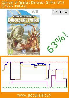 Combat of Giants: Dinosaur Strike (Wii) [import anglais] (Jeu vidéo). Réduction de 63%! Prix actuel 17,15 €, l'ancien prix était de 46,05 €. https://www.adquisitio.fr/ubi-soft/combat-of-giants-dinosaur