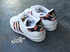 Custom Adidas Superstar for men and women, Adidas custom Hand Painted floral…