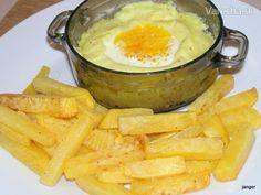 Hranolky z kvaky a vajko z mikrovlnky