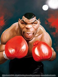 Caricature of Mike Tyson  by Jean Marc Borot