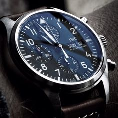 Men watches: IWC 3717 Pilot's Chronograph Dream Watches, Luxury Watches, Cool Watches, Stylish Watches, Casual Watches, Iwc Pilot Chronograph, Herren Chronograph, Iwc Watches, Beautiful Watches