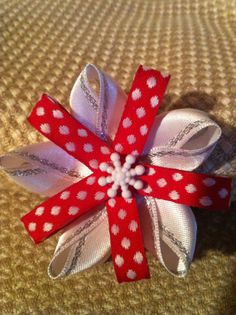Christmas hair bow by MelBelleBoutique on Etsy, $5.00