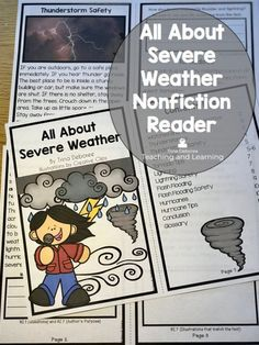 Severe weather reader for kids is an interactive reader meant to teach your students all about the science topic of severe weather, help them prepare for intense storms, while allowing students to interact with the nonfiction text in meaningful ways.ways .#severeweatherprepardness #severeweatherreader #severeweatheractivities #severeweatherforkids