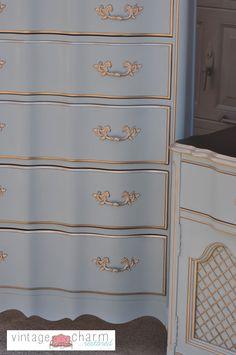Benjamin Moore Nimbus Gray Bedroom Furniture Makeover- Part 1                                                                                                                                                                                 More