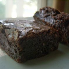 Note: The beating time is necessary in this recipe, so don't hesitate to use the mixer. I've tried several different brownie recipes and techniques, and ...