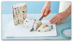 Cut ice cream for birthday parties instead of scooping, for easier serving, for multiple people.