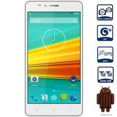 Landvo L500 5.0 inch Android 4.4 3G Smartphone HD IPS Screen MTK6592M Octa Core 1.4GHz 8GB ROM GPS Cameras