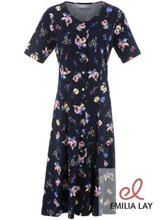 Blumen Jersey-Kleid aus 100% Baumwolle von Green Cotton #flower power #blumenprint #blumenpracht