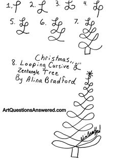How to Draw a Looping Christmas Tree Zentangle - Art Questions Answered