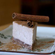 Raw Caramel Cinnamon Roll Cheesecake (nut-free!)