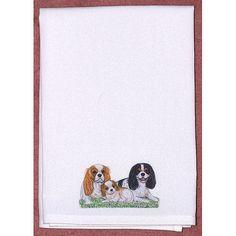 Pets King Charles Spaniels Hand Towel (Set of 2)