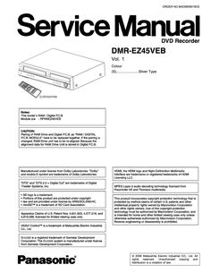 Panasonic Service Manuals