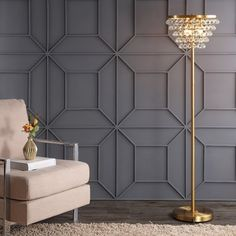 "House of Hampton Waconia 60"" Floor Lamp Finish: Brass Gold"