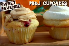 Peanut Butter and Jelly Cupcake by Sweetrevengehonolulu, via Flickr