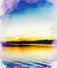 Cagliari - Marina di Bonaria.  #congliocchidiunturista #sardegna #cagliari #sardinia #italia #italy #tourism #turismo #watercolor #acquerello #nature #natura #sunset #tramonto #sea #mare #landscape #panorama #sun #sole #onde #waves #mediterraneo #mediterranean #culture #cultura