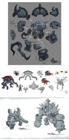 Designs de Paul Richards para o game Darksiders II | THECAB - The Concept Art Blog