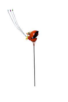 Metall-Spieß Vögel. Diese beiden Spaßvögel bringen garantiert alle zum Lachen: mit witzigen Details, fröhlichen Farben und ihren lustigen Gesichtern. Ihre Köpfe sitzen auf einer Spirale und nicken bei Bewegung hin- und her – ein spaßiges Begrüßungskommitée für Garten und Balkon. ca. 9 x 14 x 105 cm