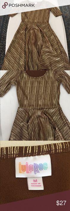 Lularoe Brown and gold ELEGANT Julia Dress Brown and gold Julia dress-elegant line LuLaRoe Dresses
