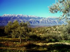 The view from the farm - Taygetus mountaints, Sparta, Greece