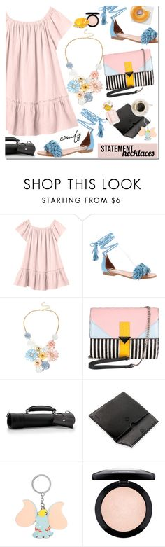 """""""Collared! Statement Necklaces"""" by mada-malureanu ❤ liked on Polyvore featuring Rebecca Taylor, Steve Madden, Mixit, Iceberg, Bolzano, Disney, MAC Cosmetics, Leather, statementnecklaces and teski"""