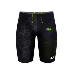 Green Panther Jammer. It works 100 percent of the time. #qswimwear