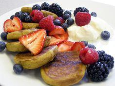 Gluten Free Pumpkin Protein Pancakes!! Use Progressive Organics Brown Rice Protein. YUM!