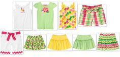 NEW GYMBOREE girl STRAWBERRY  SWEETHEART ISLAND LILY skort bermuda top 4 5 6 7 8