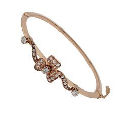 For Sale on - Glorious Victorian Rare , beautiful and sought-after, authentic Victorian bangle dating 1870 ca! hand crafted during the period of solid 18 KT rose gold Bangle Bracelets, Bangles, Victorian Gold, European Cut Diamonds, Rose Cut Diamond, Period, Gems, Rose Gold, Fire