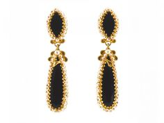 Filigree earrings with Onyx in gold 18K. Orecchini in filigrana in oro 18Kt con Onici loredanamandas.com