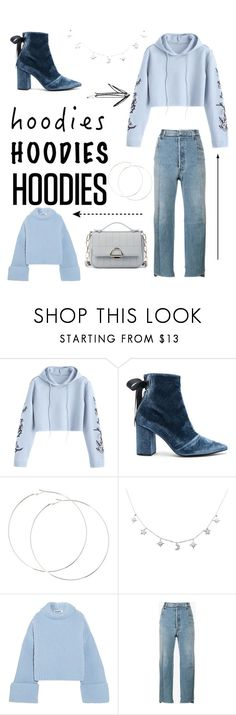 """Hooded blue"" by annadrust ❤ liked on Polyvore featuring self-portrait, Jil Sander, Vetements, Sole Society and Hoodies"
