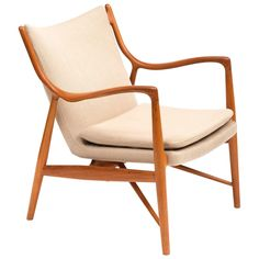 NV45 by Finn Juhl in Teak, Denmark, 1950s | See more antique and modern Lounge Chairs at https://www.1stdibs.com/furniture/seating/lounge-chairs