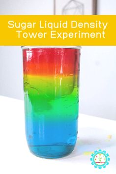 What do unicorns eat? They eat sugar rainbows! Learn how to make your own sugar rainbow density tower in this experiment inspired by Zoey and Sassafras. Easy Science Projects, Science Experiments For Preschoolers, Science For Kids, Science Activities, Summer Activities, Life Science, Density Tower, Density Experiment, Liquid Rainbow