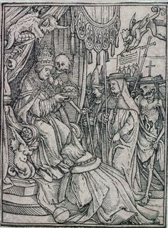 Hans Holbein, the Younger (German, 1497 or 1498–1543) The Pope (Dance of Death) | Museum of Fine Arts, Boston
