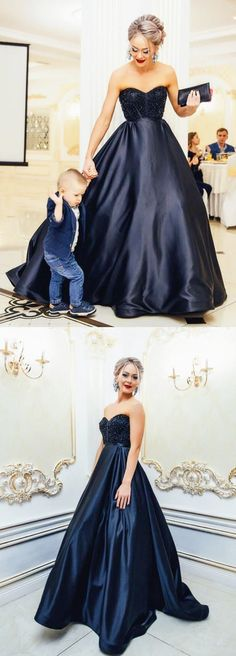 Black Prom Dresses Long, Ball Gown Prom Dresses Modest Prom Dresses for Teens, Sweetheart Prom Dresses Satin Different Prom Dresses, Prom Dresses For Teens, Black Prom Dresses, Beautiful Prom Dresses, Prom Dresses Online, Formal Evening Dresses, Dress Formal, Dress Black, Teen Dresses