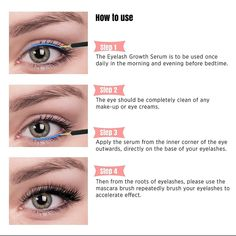 Natural Eyelash & Eyebrow Growth Serum boosts both the length and thickness of eyelashes and eyebrows. The result is longer, fuller and thicker eyelashes and brows! How To Grow Eyelashes, Thicker Eyelashes, Natural Eyelashes, Longer Eyelashes, Long Lashes, False Eyelashes, Permanent Eyelashes, Eyebrow Growth Serum, Brow Serum