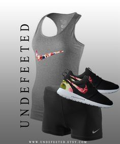 Nike Floral Women's Tank by UndeFeeted on Etsy, $55.00