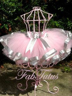 Light pink tutu with silver gray satin ribbon trim by FabTutus, all sizes and color combinations available Ribbon Tutu, Fabric Tutu, Tutu Outfits, Kids Outfits, Tutu Dresses, Diy Tutu, Tutu Costumes, Tutus For Girls, Everything Pink