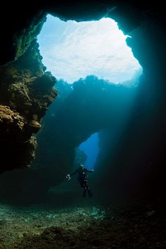 Lanai's Second Cathedral dive site is the result of molten rock exploding in the ocean