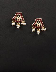 Buy Fabindia Silver Anusuya ES 1671 Stud Earrings-Black Online- Fabindia.com